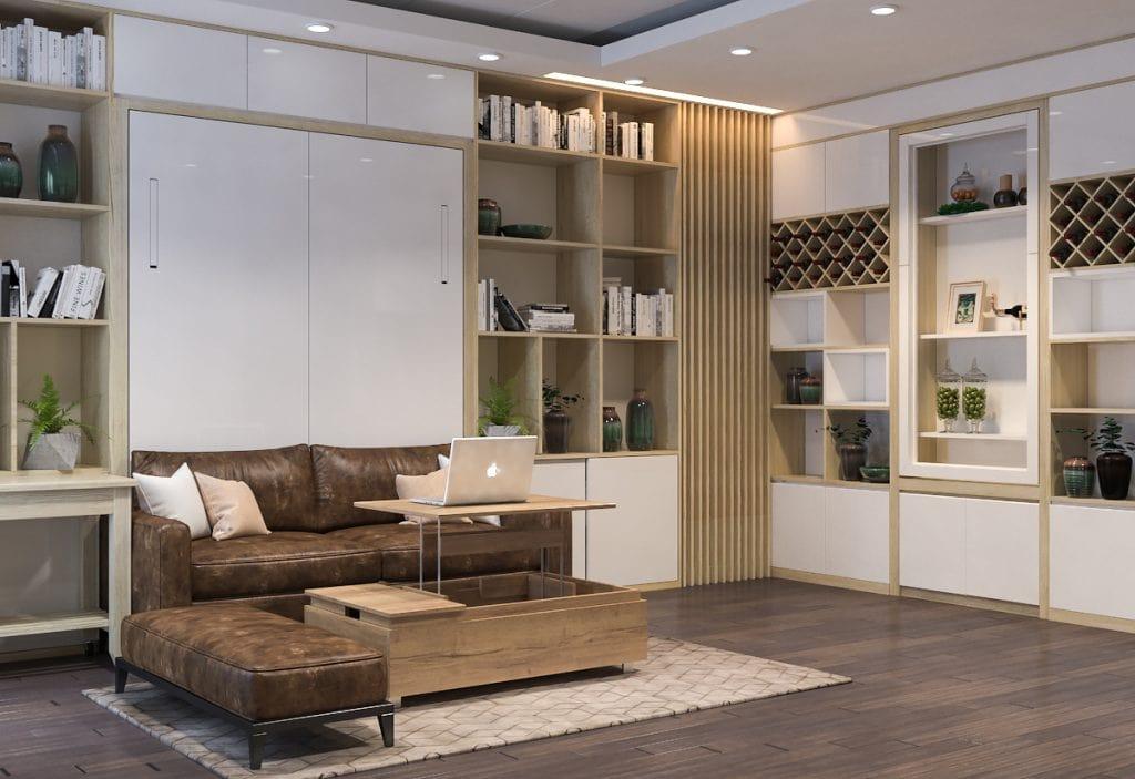Những mẫu kệ trang trí phòng khách đẹp, HOT nhất 2020