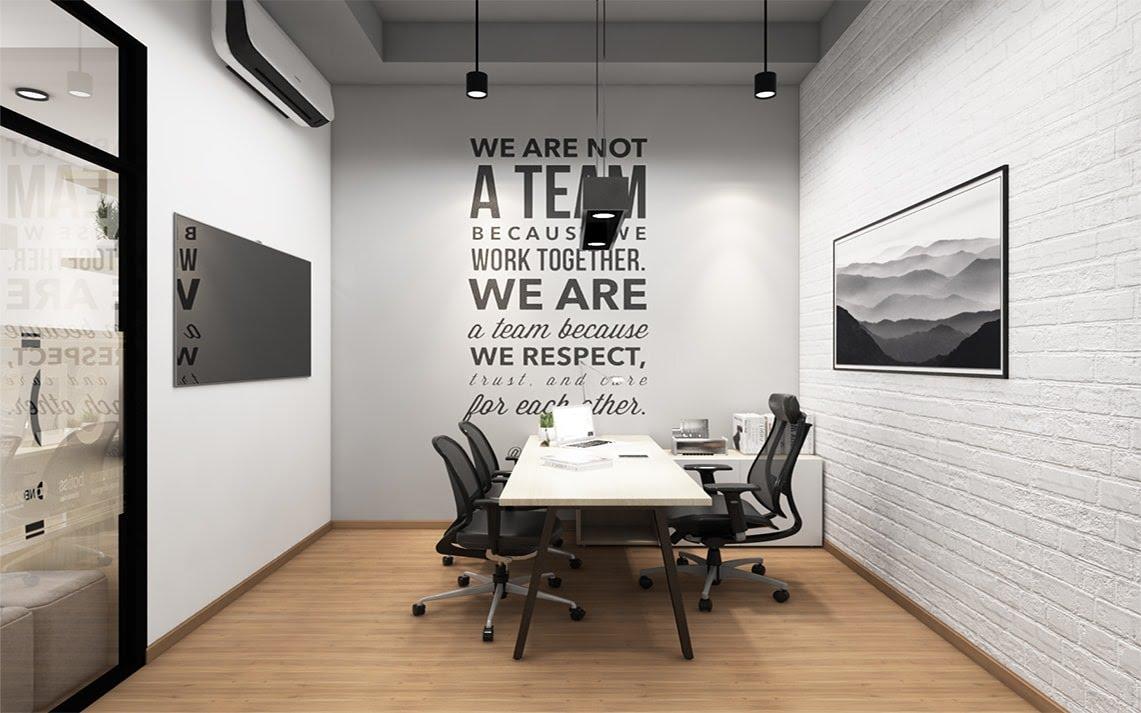 Dù chỉ với thiết kế nội thất văn phòng có một bàn làm việc thì đây vẫn là một không gian vô cùng tiện lợi